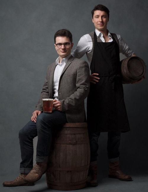 L'équipe de la Brasserie Ragnar : Pierre-Marie & Benoit