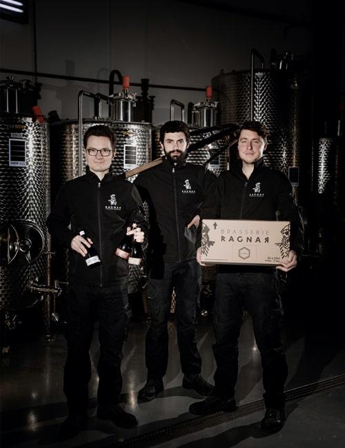 Brasserie Ragnar's team : Pierre, Pierre-Marie & Benoit